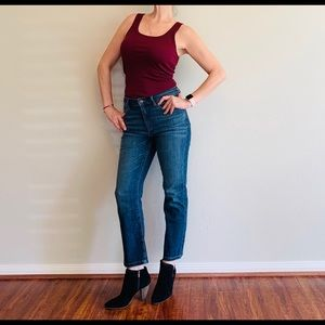 Eileen Fisher Ankle Boot High Waist Jeans/6P/NWT